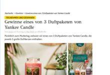 Gewinne Yankee Candle Paket GRAZIA Gewinnspiel