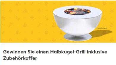 Halbkugel-Grill gewinnen Kaufland Gewinnspiel