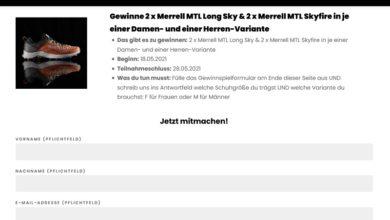 Jetzt Merrell MTL Long Sky / Merrell MTL Skyfire gewinnen: ACHILLES RUNNING Gewinnspiel