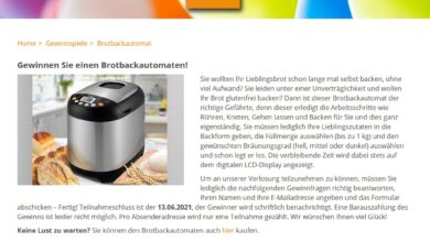 Jetzt TurboTronic Brotbackautomat gewinnen homeplaza Gewinnspiel