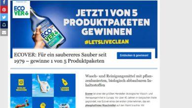 Gewinne ein Ecover Produktpaket Utopia Gewinnspiel