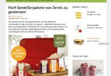 Gewinne ein Zentis-Paket EatSmarter Gewinnspiel