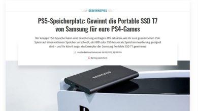 Gewinne eine Samsung Portable SSD T7 Festplatte MediaMarkt Gewinnspiel