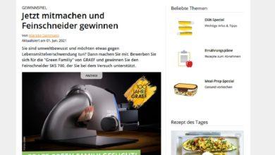 Gewinne einen GRAEF Feinschneider SKS 700 eat smarter Gewinnspiel