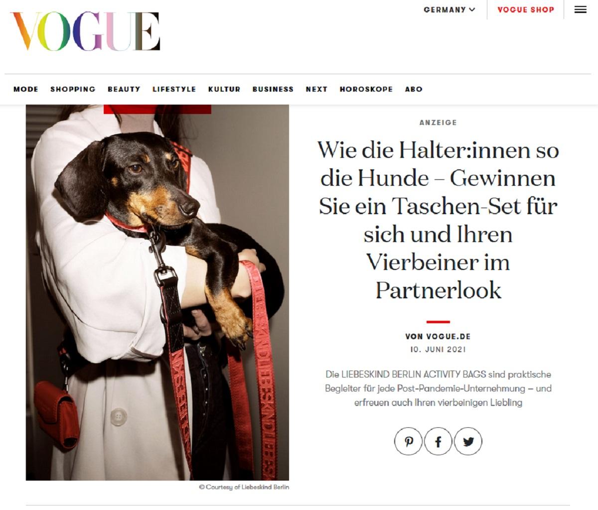 Jetzt Liebeskind-Berlin-Set gewinnen Vogue Gewinnspiel