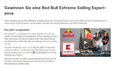 Jetzt Red Bull Extreme Sailing Experience gewinnen Kaufland Gewinnspiel