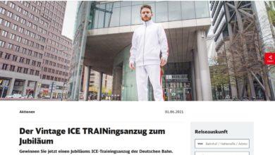 Jetzt TRAINingsanzüge, Bahntickets & mehr gewinnen Deutsche Bahn Gewinnspiel