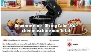 Jetzt Tefal Oh My Cake Küchenmaschine gewinnen MediaMarkt Gewinnspiel