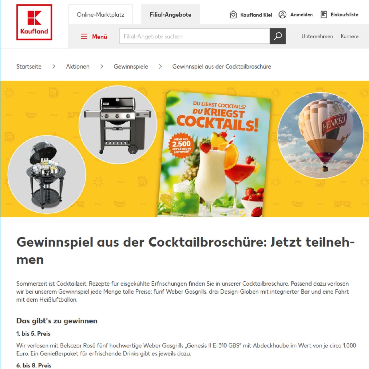 "Jetzt Weber Gasgrill ""Genesis II E-310 GBS"" gewinnen: Kaufland Gewinnspiel"