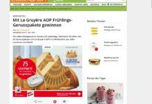 Le Gruyère Käsepaket gewinnen EatSmarter Gewinnspiel