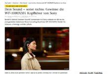 GRAZIA Gewinnspiel Gewinne jetzt Noise Cancelling-Kopfhörer von Sony