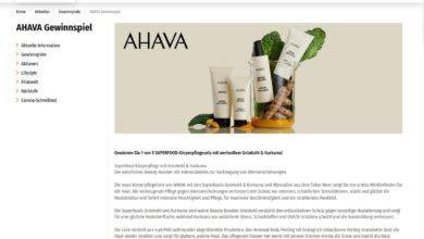 Gewinne ein AHAVA-SUPERFOOD-Körperpflegeset Müller Gewinnspiel