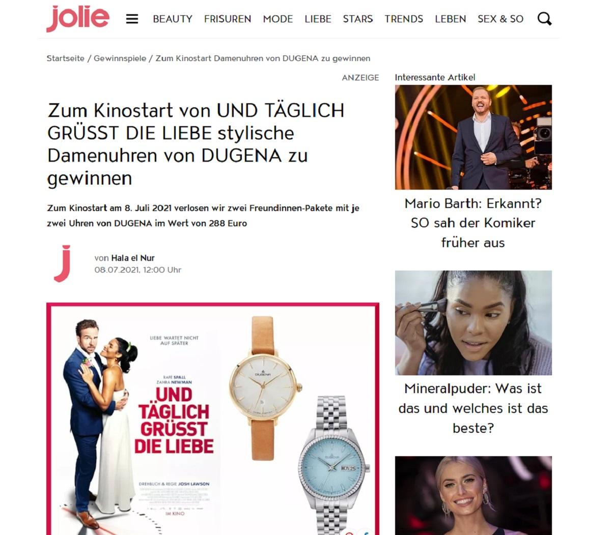 Gewinne ein DUGENA Damenuhr Jolie Gewinnspiel