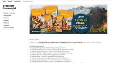 Gewinne ein Seeberger Produktpaket Müller Gewinnspiel