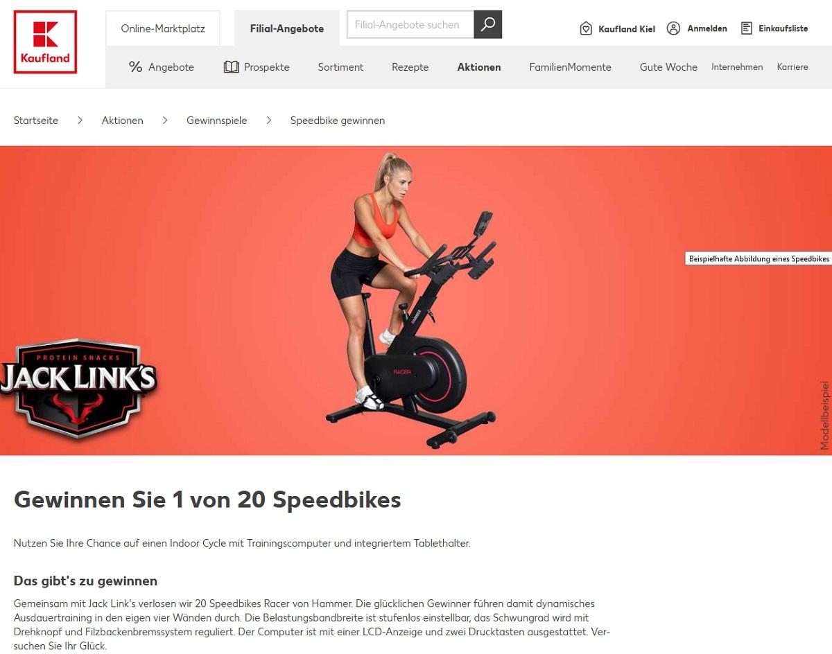 Gewinne ein Speedbike Kaufland Gewinnspiel