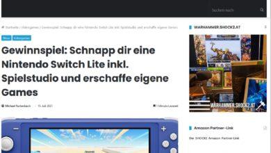 Gewinne eine Nintendo Switch Lite SHOCK2 Gewinnspiel