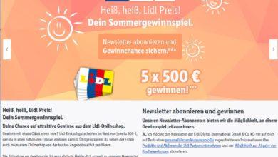 Gewinne einen 500 € Einkaufsgutschein Lidl Gewinnspiel