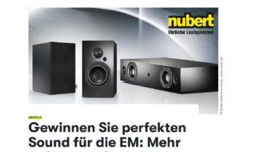 Gewinne einen Nubert Audiotechnik Gutschein GQ Magazin EM 2021 Gewinnspiel