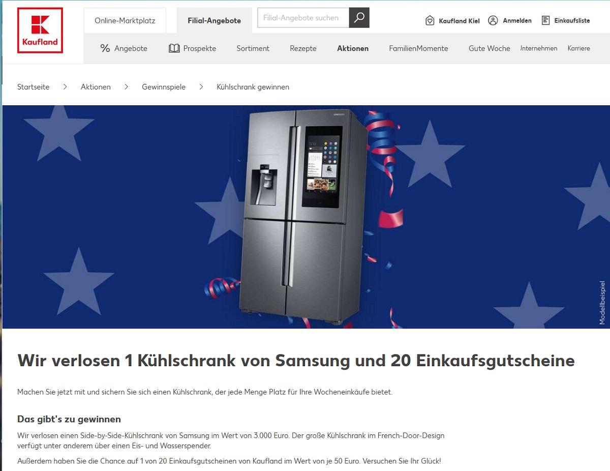 Gewinne einen Samsung im French-Door-Design Kaufland Gewinnspiel