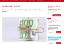 Jetzt 1.000 Euro Bargeld gewinnen aponet Gewinnspiel