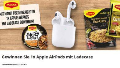 Jetzt Apple Airpods gewinnen: myTime & Maggi Gewinnspiel