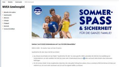 Jetzt DLRG-Schwimmkurs gewinnen Müller Gewinnspiel