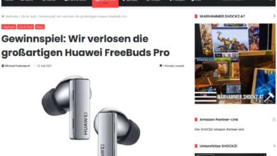 Jetzt Huawei FreeBuds Pro gewinnen: SHOCK2 Gewinnspiel