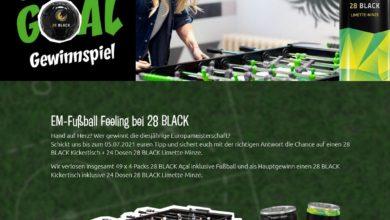 Jetzt Kickertisch oder BLACK-Sets gewinnen 28 BLACK Gewinnspiel