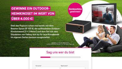 Telekom Gewinnspiel Gewinne jetzt ein Outdoor-Heimkinoset