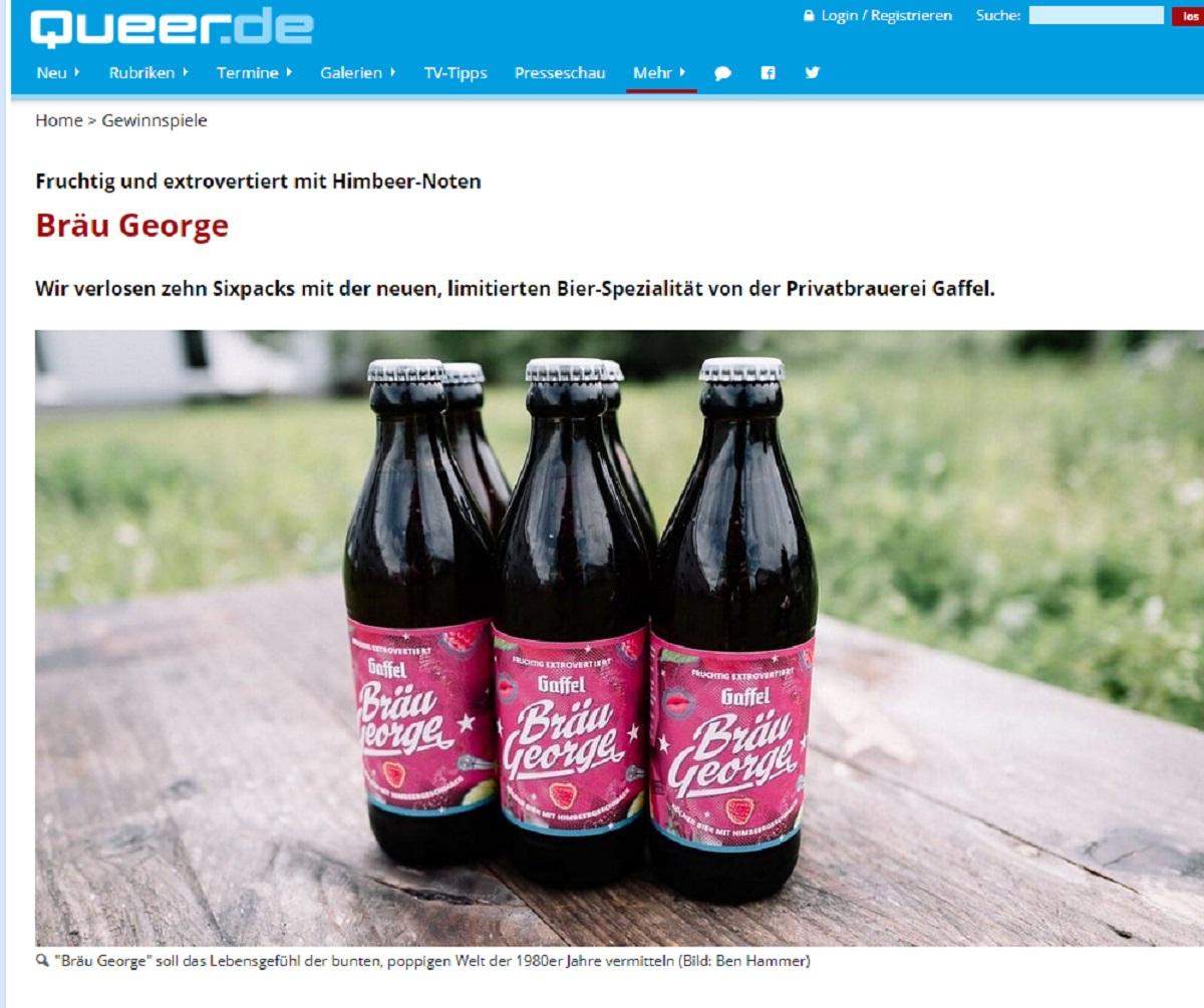 Gewinne ein Bräu George Sixpack: queer.de Gewinnspiel