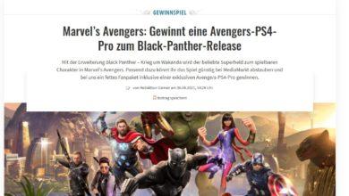 Gewinne eine PS4-Pro mit Avengers-Paket MediaMarkt Gewinnspiel