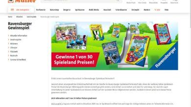 Gewinne einen Kurzurlaub im Ravensburger Spieleland Feriendorf Müller Gewinnspiel