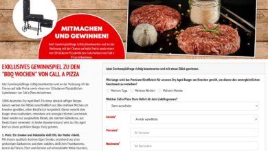 Gewinne einen vidaXL Smoker: Call a Pizza Gewinnspiel