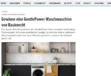 Bauknecht GentlePower-Waschmaschine gewinnen FIT FOR FUN Gewinnspiel