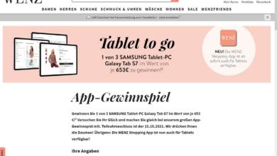 Gewinne ein SAMSUNG Galaxy Tab S7 WENZ Gewinnspiel