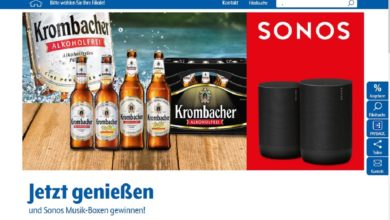 Gewinne eine Sonos Musik-Box Getränke Hoffmann Gewinnspiel