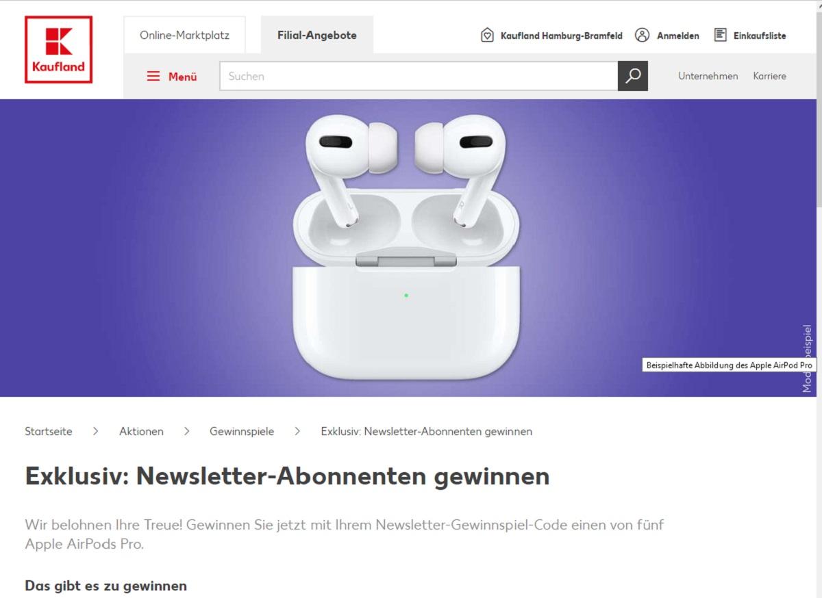 Jetzt Apple AirPods Pro gewinnen: Kaufland Gewinnspiel