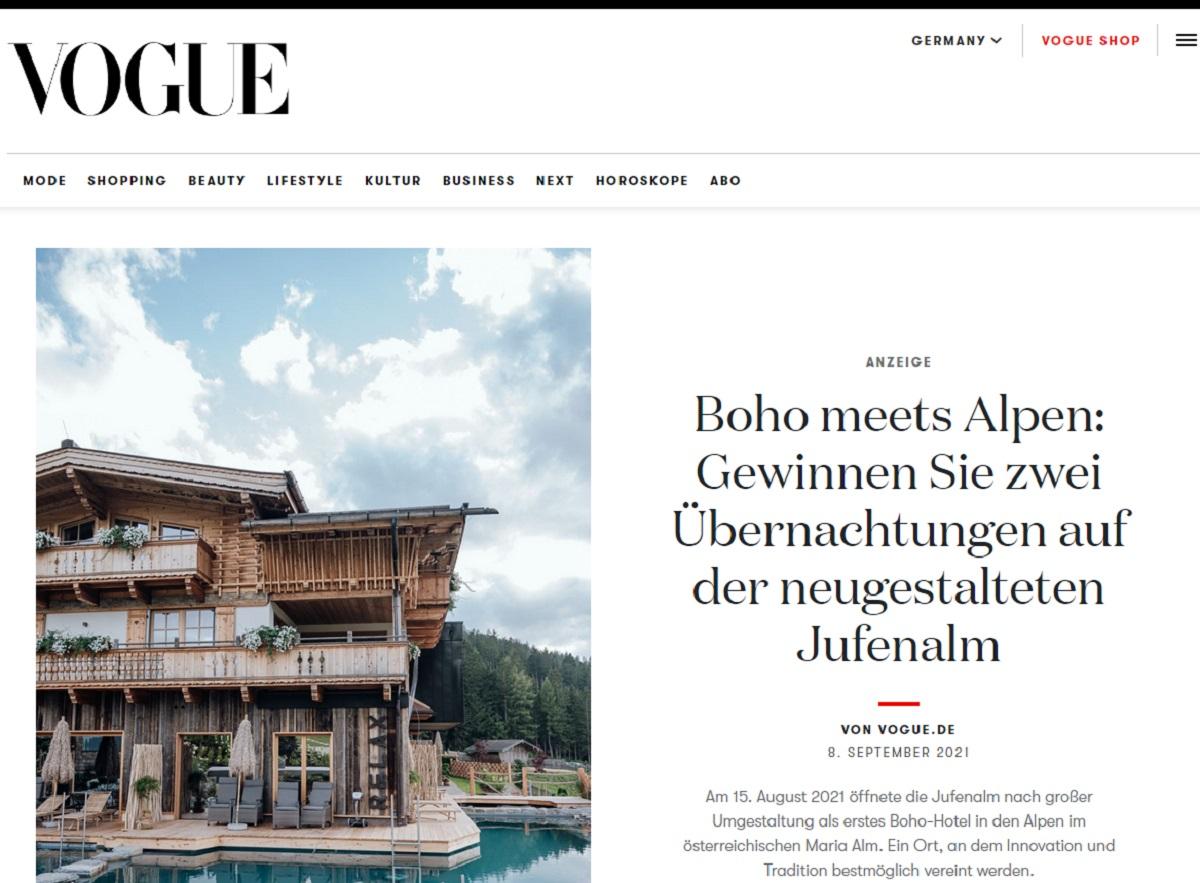 Jetzt Kurzurlaub im Boho-Hotel gewinnen: VOGUE Gewinnspiel