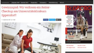 Jetzt teilnehmen und Reiter-Checkup in Hamburg gewinnen st-georg.de Gewinnspiel