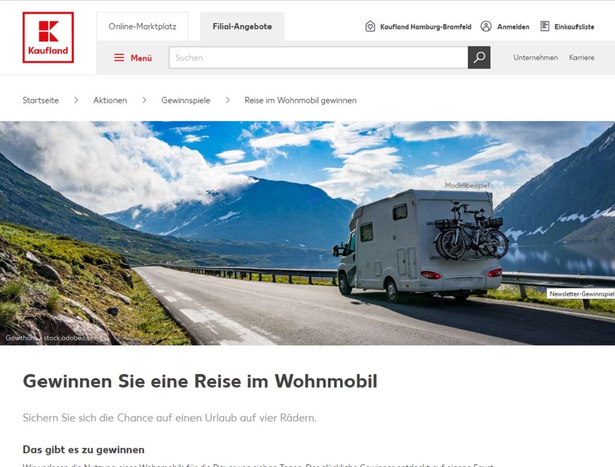 Kaufland Gewinnspiel: Gewinne jetzt eine Wohnmobil-Reise