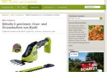 Ryobi Gras- und Strauchschere + Newsha Akku & Ladegerät gewinnen Gartenfreunde Gewinnspiel