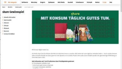 Gewinne ein share Produktpaket Müller Gewinnspiel
