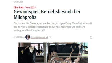 Gewinne eine Elite Dairy Tour 2021
