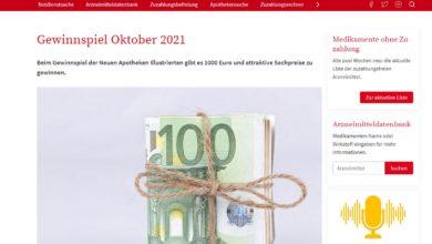 Jetzt 1000 Euro gewinnen Neue Apotheken Illustrierte Gewinnspiel