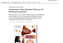 """Jetzt """"Bares für Rares"""" Buch gewinnen: Mediengruppe Mitteldeutschland Gewinnspiel"""