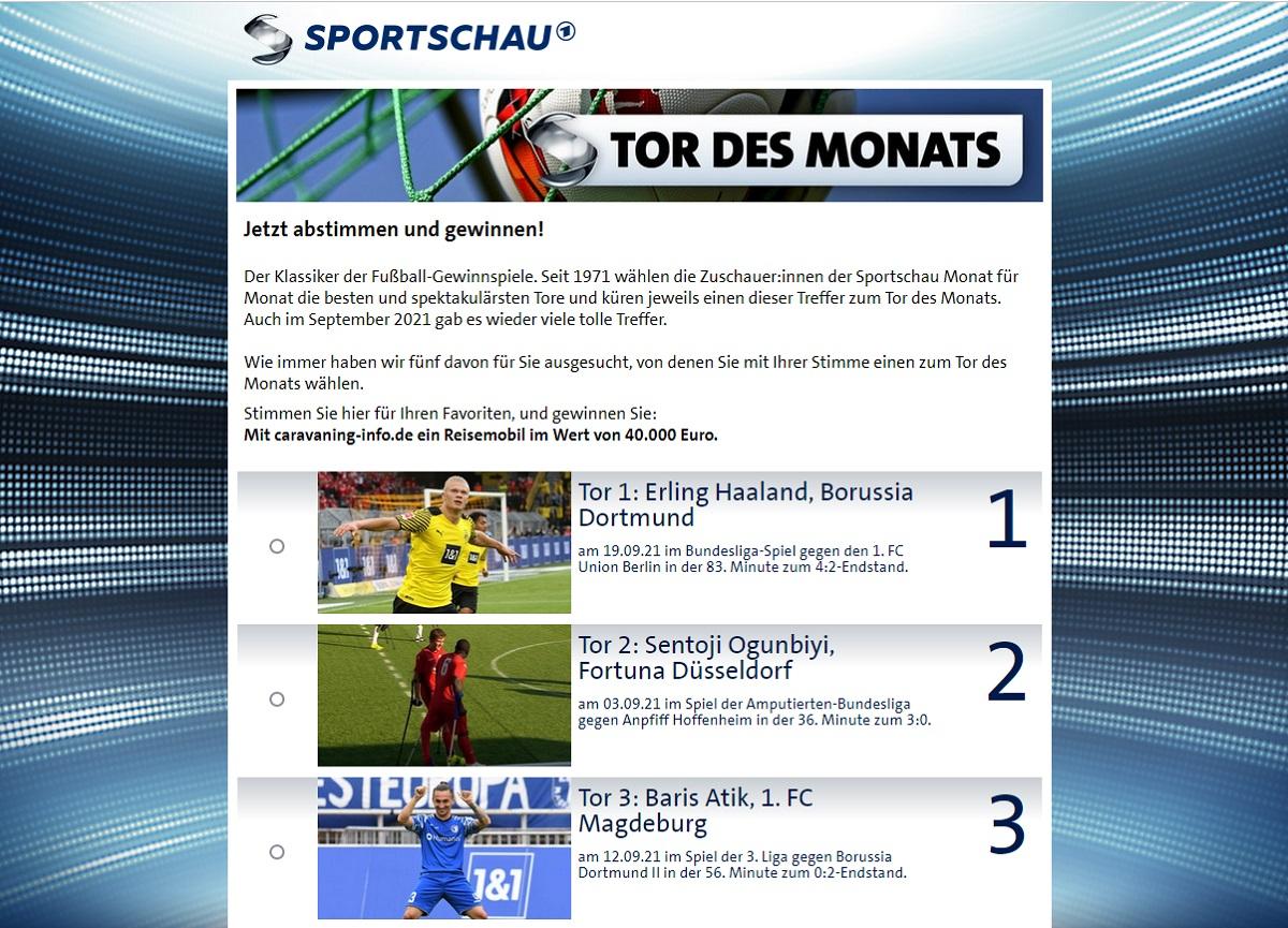 Jetzt Reisemobil gewinnen: Sportschau Gewinnspiel