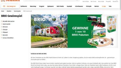 Jetzt teilnehmen und BRIO Paket gewinnen Müller Gewinnspiel